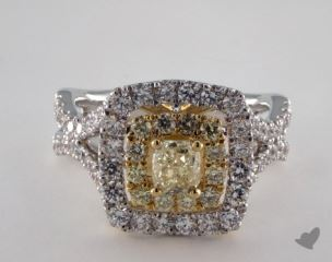 18K White & Yellow 2ctw Radiant Yellow Diamond & Pave Ring