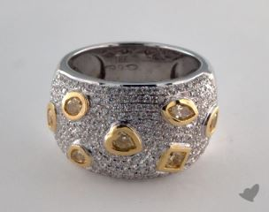 18K White & Yellow 1.54ctw Mixed Yellow & Pave Diamond Ring