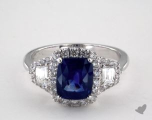 18K White Gold - 2.25ct  - Blue