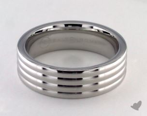 Cobalt chrome™ 7.0mm Comfort-Fit  Satin-Finished 4-Roll Design Ring