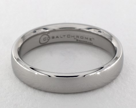 Cobalt chrome™ 4.5mm European Comfort-Fit™ Design Ring