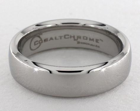 Cobalt chrome™ 6.5mm European Comfort-Fit™ Design Ring
