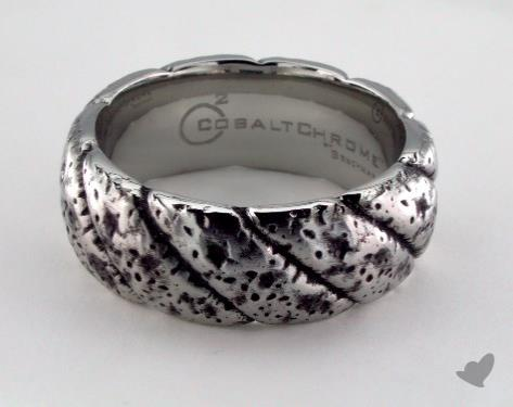Cobalt chrome™ 9mm Comfort Fit Blackened Rustic Ring