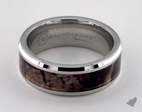 Cobalt chrome™ 8mm Comfort Fit Ring with Hunting Cameo Inlay